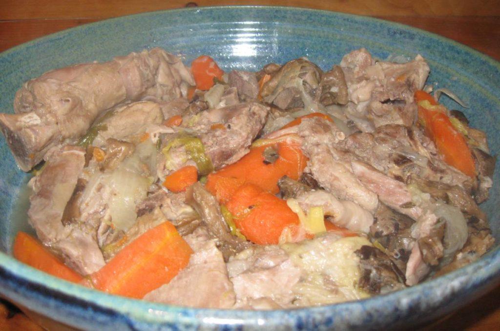 plat d'agneau  en couscous